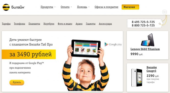 Как сделать на билайн интернет магазин сайт ооо лебедянская управляющая компания